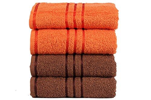 trident-everyday-400-gsm-baumwolle-4-combo-handtucher-braun-orange