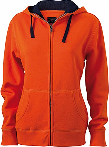 James & Nicholson - Blouson - Femme Orange/Marine