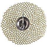 Chilewich Brass Pressed-Dahlia Placemat 0403-DAHL-BLAC by Chilewich