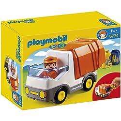 Playmobil - Camión de basura con 2 contenedores, multicolor (626621)