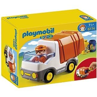 PLAYMOBIL – Camión de Basura con 2 contenedores, Multicolor (626621)
