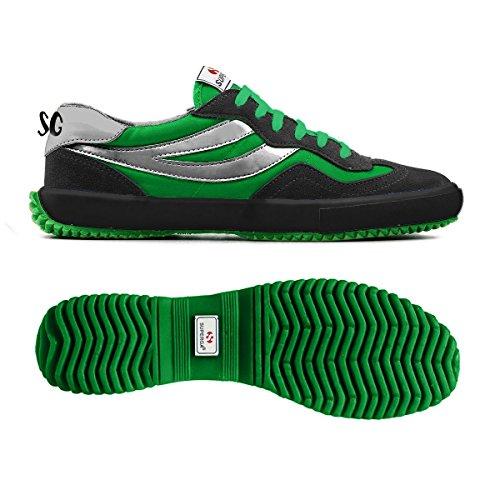 Sneakers - 2832-suenylm Elio Black-Green Kelly
