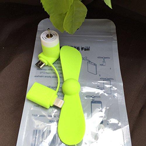 Preisvergleich Produktbild JUYUAN Mini Fan USB Ventilator Smartphone Andriod,iPhone 6, 7s, Plus, iPad Mini mit Lightning Anschluss flexibel & leise & portabel und stromsparend von(kurzer Absatz Apfel&Andrews)