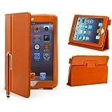32nd - Étui Apple iPad Mini 1, 2 et 3 [Book Wallet] Housse Cuir PU et Fonction Support - Orange