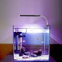 Glighone Lámpara Táctil de Acuario LED de Acuario para Plantas Sumergible Luces para Peceras y Estanques 3W de LED por 36 en Blanco 12 en Azul, Enchufe UK. [Clase de eficiencia energética A+]