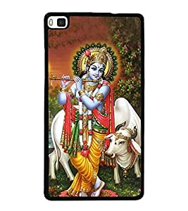 Lord Krishna 2D Hard Polycarbonate Designer Back Case Cover for Huawei P8