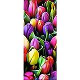 Unbekannt Textilposter - XXL Banner Tulpen Blumen Poster aus Stoff ca 90 x 180 cm