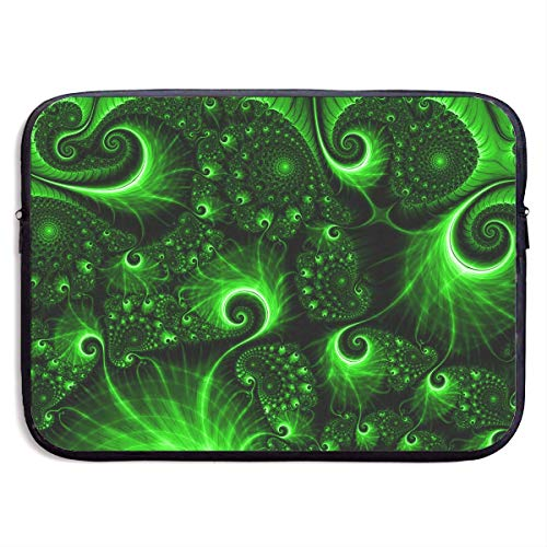 LINGJIE Computertasche Sleeve Bag Green Swirl Funny Pattern 13/15 Inch Briefcase Sleeve Bags Cover Notebook Case Waterproof Portable Messenger Bags