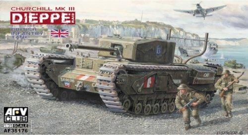 AFV-Club AF35176 Churchill Mk.3 Dieppie Including Workable, Fahrzeuge (Churchill Club Der)