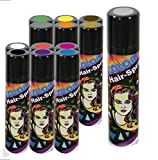 Hair-Color-Spray bunte Farben Haar-Spray Haarschmuck farbiger Spray Regenbogen-Farben (rot)