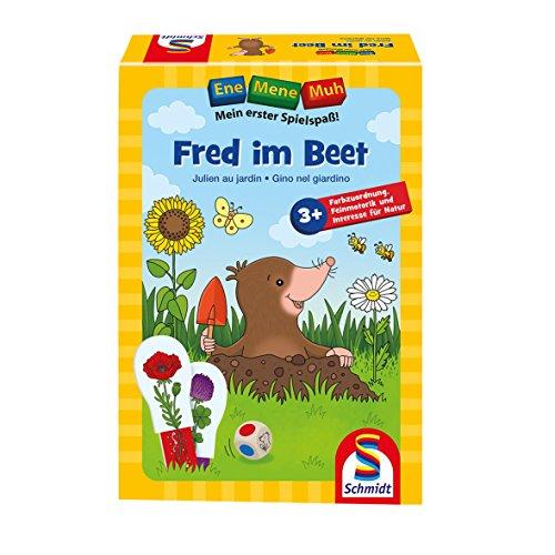 Schmidt Spiele 40550 Ene Mene MUH, Fred im Beet, Lernspiel, bunt