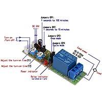 XCSOURCE DC 24V ciclo infinito ciclo di temporizzazione timer Ritardo relè ON OFF modulo 1S-15Min TE679