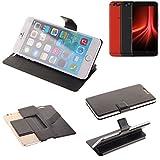 K-S-Trade Schutz Hülle für UMIDIGI Z1 Pro Schutzhülle Flip Cover Handy Wallet Case Slim Handyhülle bookstyle schwarz