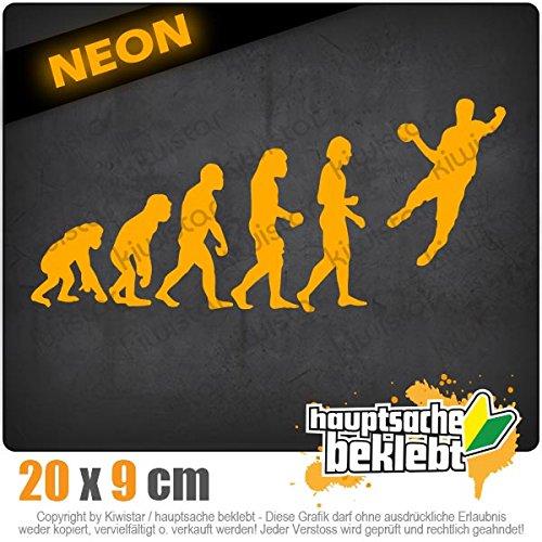 Evolution Handballer 20 x 9 cm IN 15 FARBEN - Neon + Chrom! Sticker Aufkleber