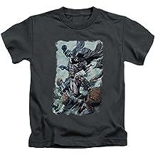 Batman Dc Comics Superhero espantapájaros Punch Little Boys camiseta Tee