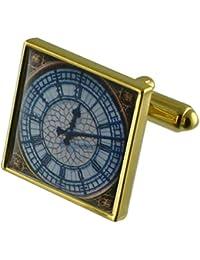 Tiempo de reloj de Big Ben Gemelos de oro con una selección de bolsa de regalo