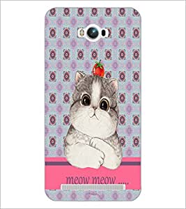 PrintDhaba Kitty D-3796 Back Case Cover for ASUS ZENFONE MAX ZC550KL (Multi-Coloured)