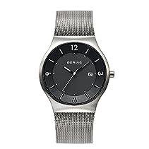 Bering Time Herren-Armbanduhr XL Solar Analog Quarz Edelstahl 14440-002