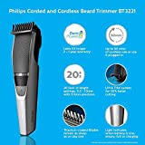 Philips DuraPower Beard Trimmer BT3221/15 - Corded & Cordless, Titanium Blades
