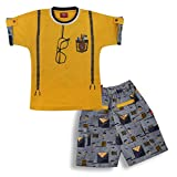 #6: Kid's Care Printed Cotton T-shirt And Half Pant Set For Boys