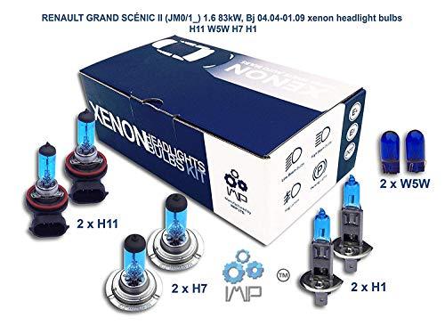 Ampoules de phares xénon lumineux| DIY, Kit simple d'utilisation | Compatible H11,H7,H1 Plus ampoules éclairage latéral gratuites W5W
