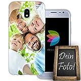 dessana Eigenes Foto transparente Schutzhülle Handy Tasche Case für Samsung Galaxy J3 (2017)