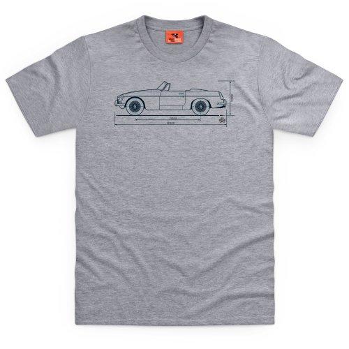 PistonHeads MGB T-shirt, Uomo Grigio mlange