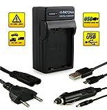 ¡Novedad! – El primero cargador de batería con conexión micro USB · adecuado para la batería EN-EL14 para Nikon D3100   D3200   D5100   D5200   P7000   P7100   P7700 y mucho más…
