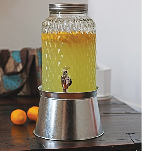 Set Spender York 1.5 gallon Treasure 1.5 Gal W-stand Iced Beverage Glas