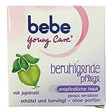 bebe Young Care beruhigende Pflege Gesichtscreme mit Jojobaöl für empfindliche Haut (50ml Tiegel)