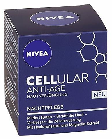 2x Nivea Cellular Anti-Age Nachtcreme/ ,,Verjüngungseffekt