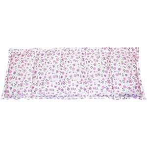 Körnerkissen Wärmekissen Füllung wählbar aus Kirsch, Raps, Leinsaat, Traubenkerne,Weizen, Roggen oder Dinkel Blümchen pink rosa grau 50x20cm