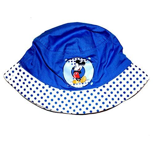 Disney Baby Fischerhut Mützchen Cap Mickey Maus (46, Blau) (Baby-hüte Daisy)