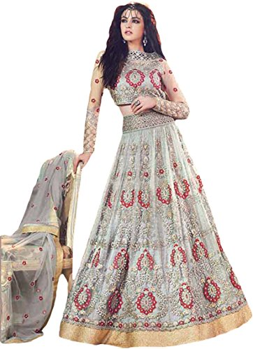 Justkartit Zoya Wedding Wear Anarkali Suits/Heavy Embroidery Lehenga/Floor Length Anarkali Flairs Dress Material