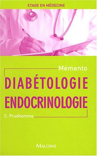 Diabétologie Endocrinologie par Christophe Prudhomme