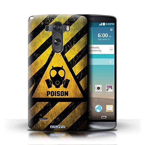 Kobalt® Imprimé Etui / Coque pour LG G3/D850/D855 / Décès/Faucheuse conception / Série Signes de Danger Poison