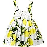 hibote Las niñas de la honda del vestido del chaleco del vestido del bebé Frutas Imprimir