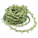 Guirnalda artificial de mimbre con hojas para decorar la pared, un árbol o para hacer manualidades (10 m), de Yotako