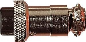 Nickel 7 Pin High Quality Multi Contact Line Sockel mit Zugentlastung und Lötanschlüsse