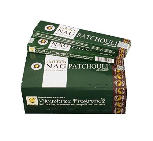 Pamai Pai® 180g Golden Nag Champa Patchouli grün - Grundpreis: 6,66€/100g - Räucherstäbchen Räucherwerk -