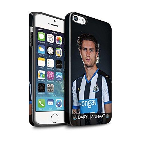 Officiel Newcastle United FC Coque / Brillant Robuste Antichoc Etui pour Apple iPhone 5/5S / Pack 25pcs Design / NUFC Joueur Football 15/16 Collection Janmaat