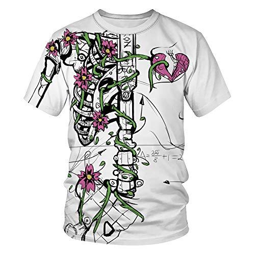 n T-Shirt Skelett Shirt Halloween Brustkorb X Ray T-Shirt Unisex Schädel und Knochen Kurzärmeliges T-Shirt Paart-Shirt ()