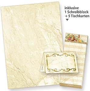 Tatmotive papier lettres effet marbre style parchemin for Fourniture bureau papier