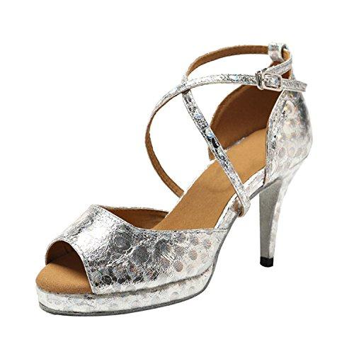 Minitoo - Ballroom donna Silver-8.5cm Heel