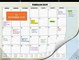 Wandkalender 2020 von SmartPanda - Kalendar 2020 - Monatskalender für den Tisch...