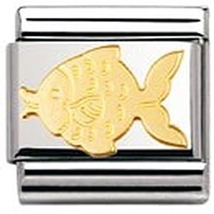 Nomination Composable Classic TIERE – WASSER Edelstahl und 18K-Gold (Fisch) 030113