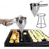 Dispensador con soporte embudo para miel sirope salsas caramelo masa de hornear de OPEN BUY