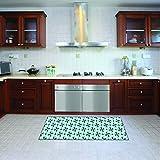 Alfombra de cocina, lavable en lavadora, alfombra cocina,52cm x 140cm, antiácaros, antideslizante, alfombra de cocina diseño alveolar,100% made in Italy,alfombra de cocina diseño de impresión digital
