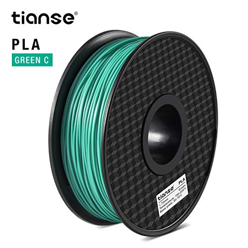 TIANSE PLA Filament 1.75 mm 1 kg, PLA Filamento de Impresora 3D, Filamento PLA 1.75 mm, Precisión Dimensional +/- 0.03 mm, 1 kg(2.2 lbs), Spool for 3D Printers and 3D Pens Verde-C