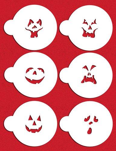 C178Kürbis Halloween Gesichter Kuchen Schablonen, beige/halbtransparent (Gesichter Für Halloween-kürbis)